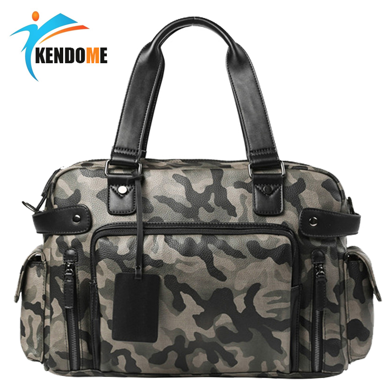 Top PU Leather Sports Gym Bag Crossbody Bag Men's Travel Messenger HandBag Fitness Training Bags Laptop Briefcase Bag for Man bag for bags for men bag men - title=