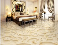 Romantic And Warm 3d Floor Mural Wallpaper Modern Flowers 3d Flooring For Shopping Mall Kitchen Mural