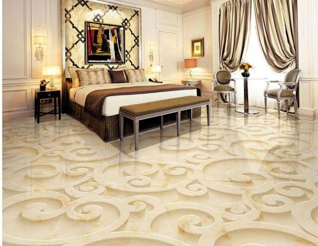 Romantic and warm 3d floor mural wallpaper modern Flowers 3d ...