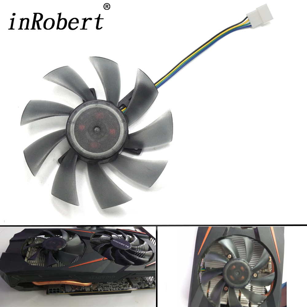 New 85mm 4Pin Cooler Fan Replacement RX 580 GTX 1060 Graphics Card Fan For REDEON GIGABYTE RX580 Gaming 4G/8G MI DIY фотоаппарат sony cyber shot dsc rx10m2