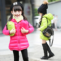 Meninas Casaco de Inverno Com Capuz Pato Branco Para Baixo Casaco de Inverno 2017 coletes Para Crianças Meninas Roupas Roupa Dos Miúdos 5 Cores Idade 2-14Y