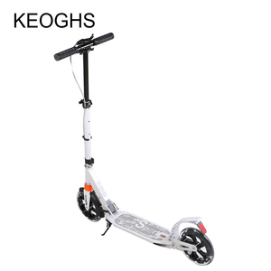 Image 3 - adult children aluminium scooter foldable PU 2wheels bodybuilding shock absorption urban campus transportation