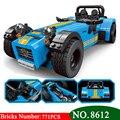 AIBOULLY 8612 8613 идеи гонщики гусеницы Seven 620R спортивный автомобиль и F430 спортивная модель игрушки блоки Кирпич 21307