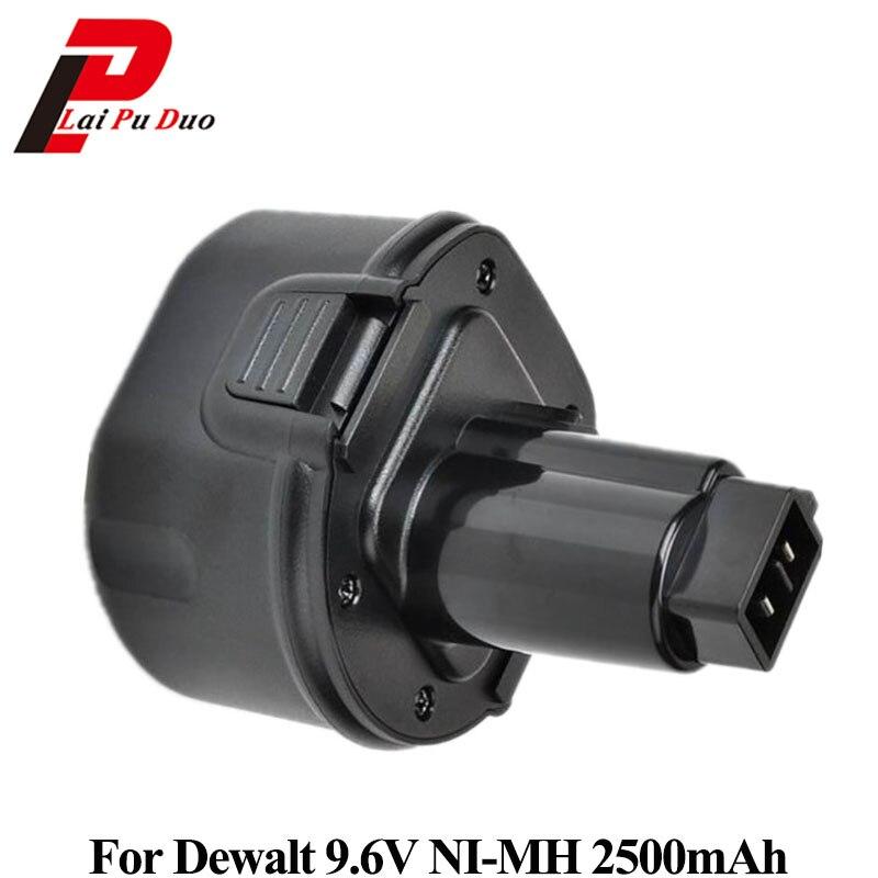 NI-MH Puissance Outil Batterie De Remplacement 9.6 v 2.5Ah Pour Dewalt Forage: DW9061, DC855KA, DW050K, DW955K, DW902, DW926K-2, DW955K-2, DW9062