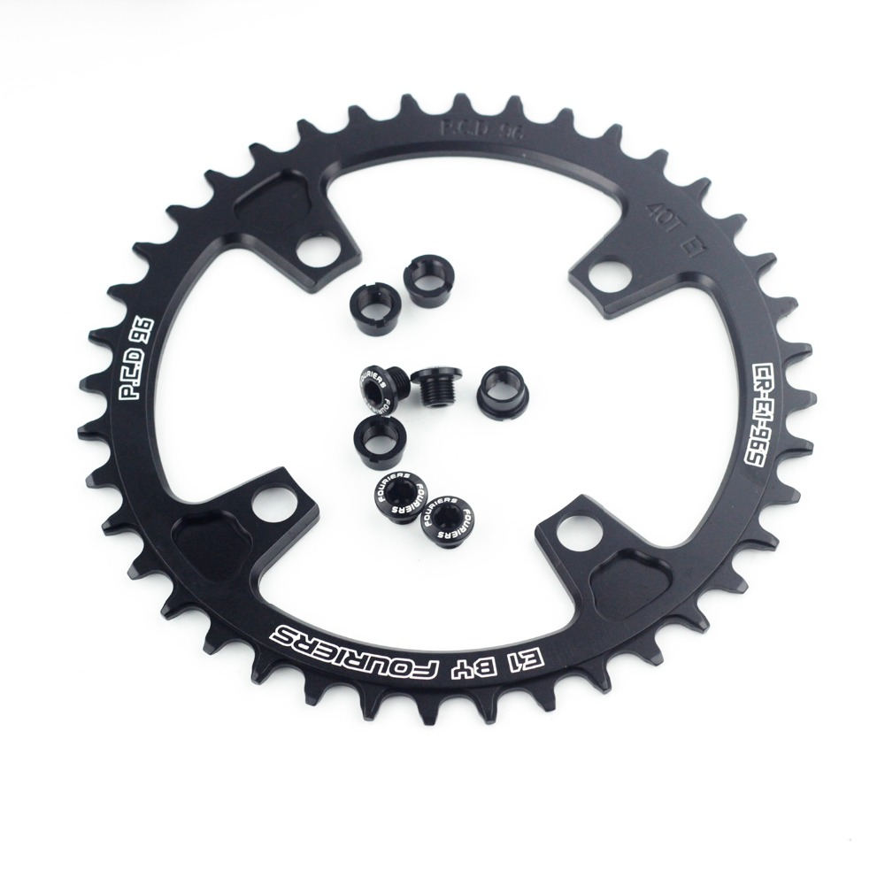 Fouriers AL7075 Bike Single Chain Ring BCD 96mm bicycle crank chainring M613 36T 38T 40T 42T 44T Black cnc al7075 oval single chainring chain ring bcd 96 40t 42t 44t crank 1 x speed for shimano fouriers