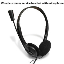 Wired Stereo Headset Noise Cancelling Earphone with Mini Mic for Office Customer