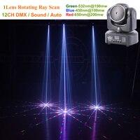 AUCD Mini 1 Heads RGB Laser Pattern Shark Moving Beam Light DMX Professional Bar Party Disco Show DJ Stage Lighting H 1C