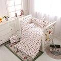 2017 Newborn Cute  Pattern Cartoon Design Baby Boy Girls Crib Bedding Sets Bed,Bumpers Set In The Crib
