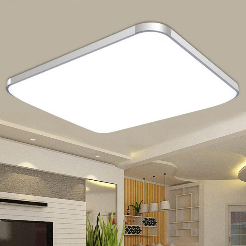Lampe de plafond en duvet 24 W, économie d'énergie carrée pour le salon chambre à coucher MAL999