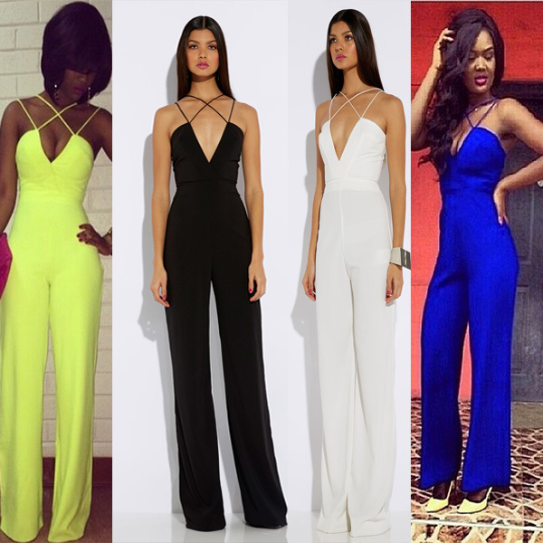 Aliexpress.com : Buy Free Shipping Women Jumpsuit Black/White/Blue ...