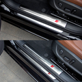 Car Styling 4 Pcs/ lot New Stainless Steel Internal And External Car Door threshold Decoration Trim For Audi A6 2005-2016