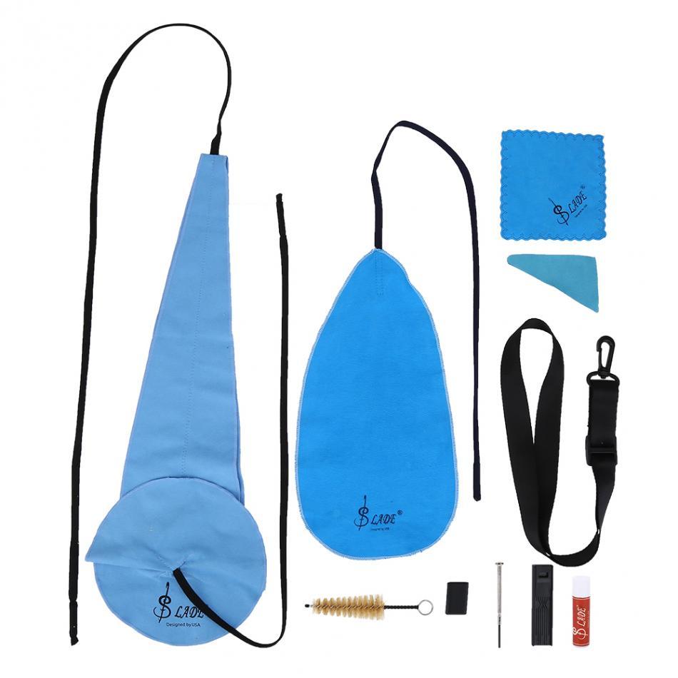 10Pcs/Set Saxophone Cleaning Kit Sax Clean Cloth Mouthpiece Brush Belt Mini Screwdriver Set Saxophone Accessories