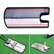 Golf Swing Straight Practice Golf Putting Mirror Alignment Training Aid Swing Trainer Eye Line Golf Accessories 31 x 14.5cm(China)