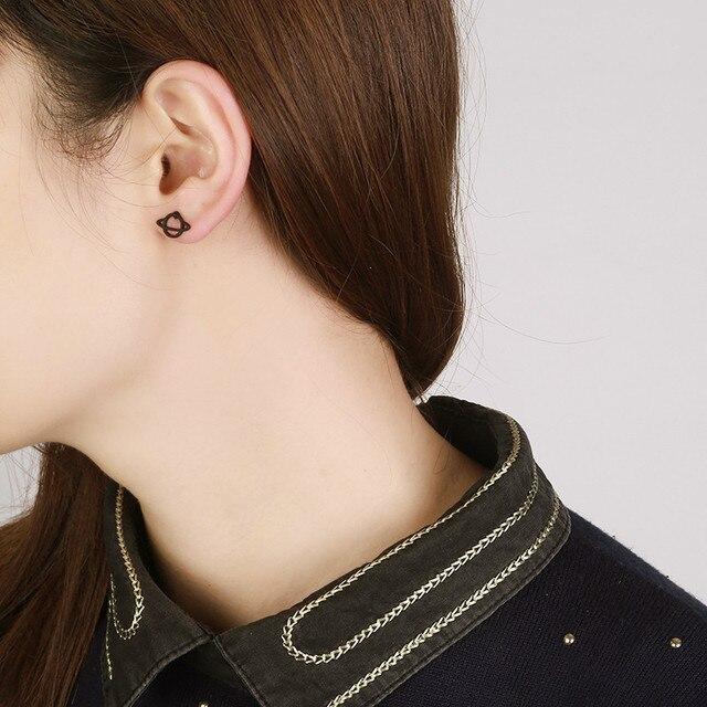Black Star & Saturn Earring Set