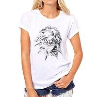 2017 New Funny skull joker t shirts Summer New Clown print 3d t shirt casual girl tee tops camisetas 32W-37#