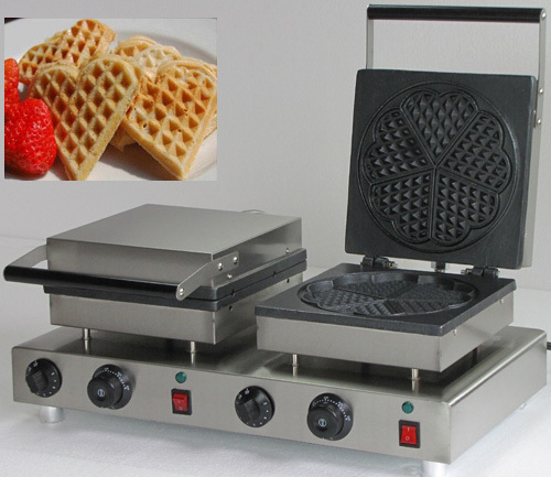 110V_ 220v Electric double head heart shaped waffle makers