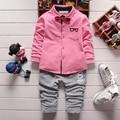 2016 New children clothing set stars boys set baby regular sets long coat+pants 2 pcs full set clothes kids suit cotton 2-5 Year