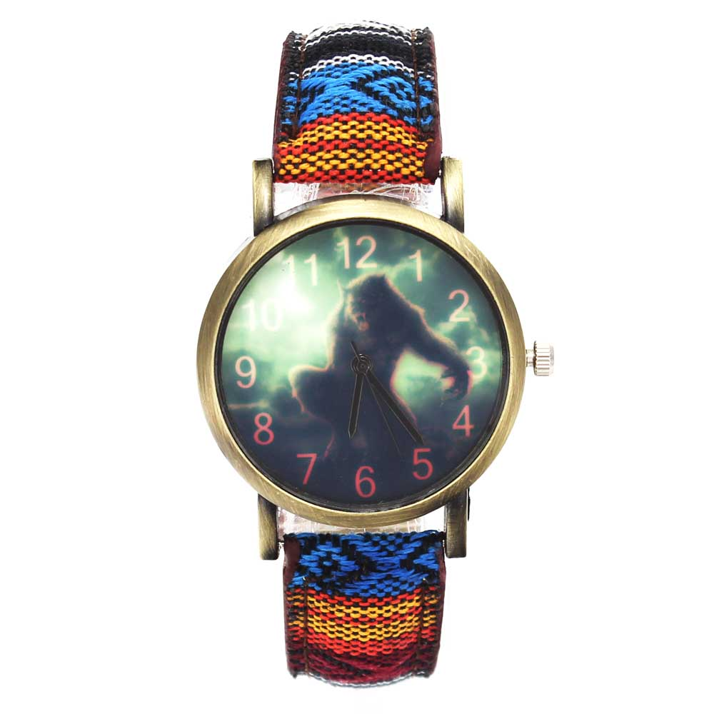 US $6 0 50% OFF|Vampire Werewolf Wolf Wolverine Game Quartz Watches Fashion  Sport Denim Canvas Wristband Military Camouflage Analog Wrist Watch-in