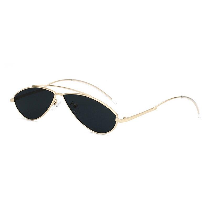 New 2019 Fashion Cat Eye Sunglasses For Men Women Metal Pilot Sun Glasses Sea Lens Vintage Double Beam Small Panda Eyeglasses L3