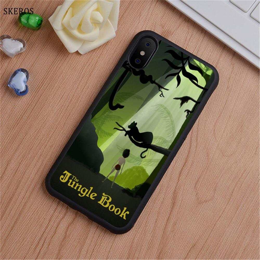 SKEROS The Jungle Book 7 (3) phone case for iphone X 4 4s 5 5s 6 6s 7 8 6 plus 6s plus 7 & 8 plus #B754