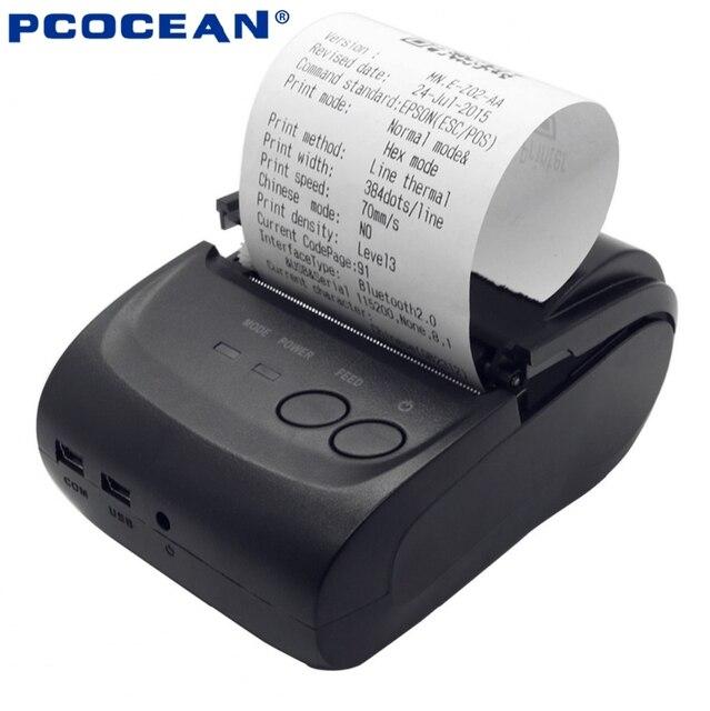 10 ШТ. Мини Беспроводной Связи Bluetooth Android 4.2. 58 мм Тепловая Чековый Принтер Портативный Мобильный Принтер с Бесплатным SDK