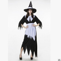 Disfraces Woman Halloween Witch Costumes Sorceress Cosplay Magician Role play Carnival Easter stage show Masquerade party dress