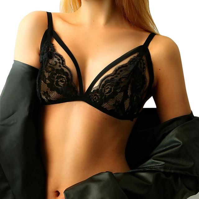 1a09b691f8d 2017 Women Lace Bralette Bra Floral Sheer Brassiere Underwear Bustier Intimates  Underwear See through Crop Top Lingerie Hot Crop