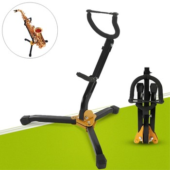 Saxophone Stand Tenor Saxophone Holder Portable Foldable Instrument Accessories Peg For Saxophone Sax Holder  hot protect deluxe tenor saxophone bag black