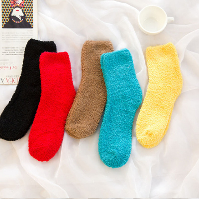 aec021b91a2 Thermal Warm Womens Fuzzy Socks with Soft and Thick for Indoor Floor with  Multi Colors