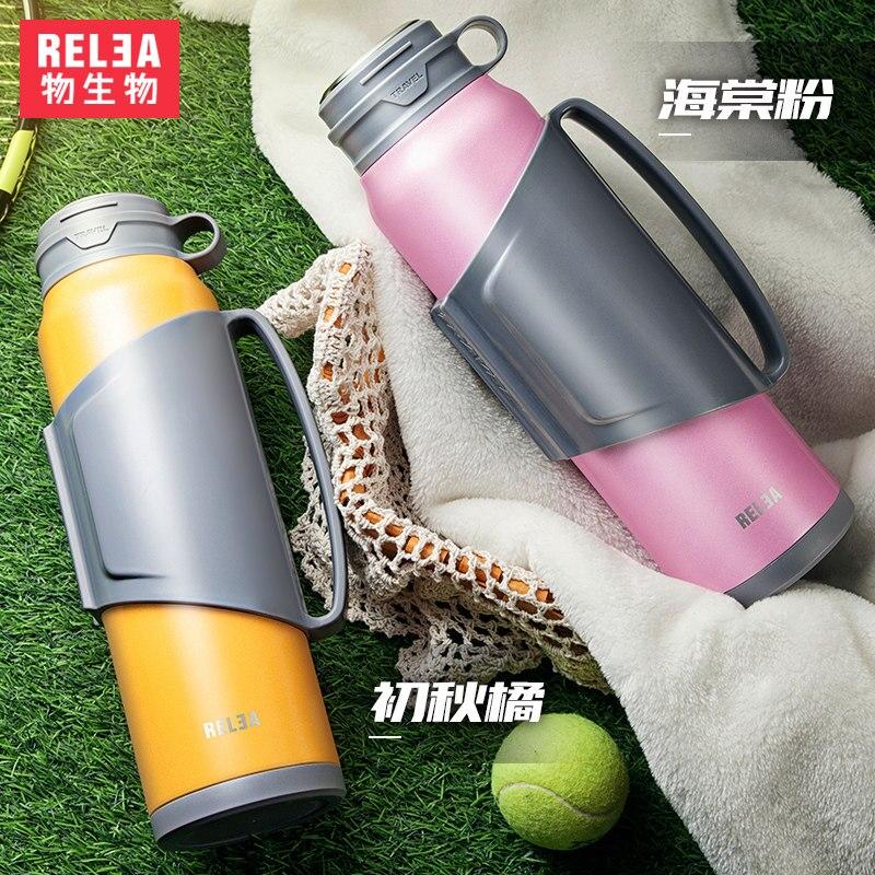 1.4l rodinná voda baňka cestovní vakuový čaj kávový hrnec z nerezové oceli táborová baňka sportovní láhev s vodou teplá studená nápojová láhev
