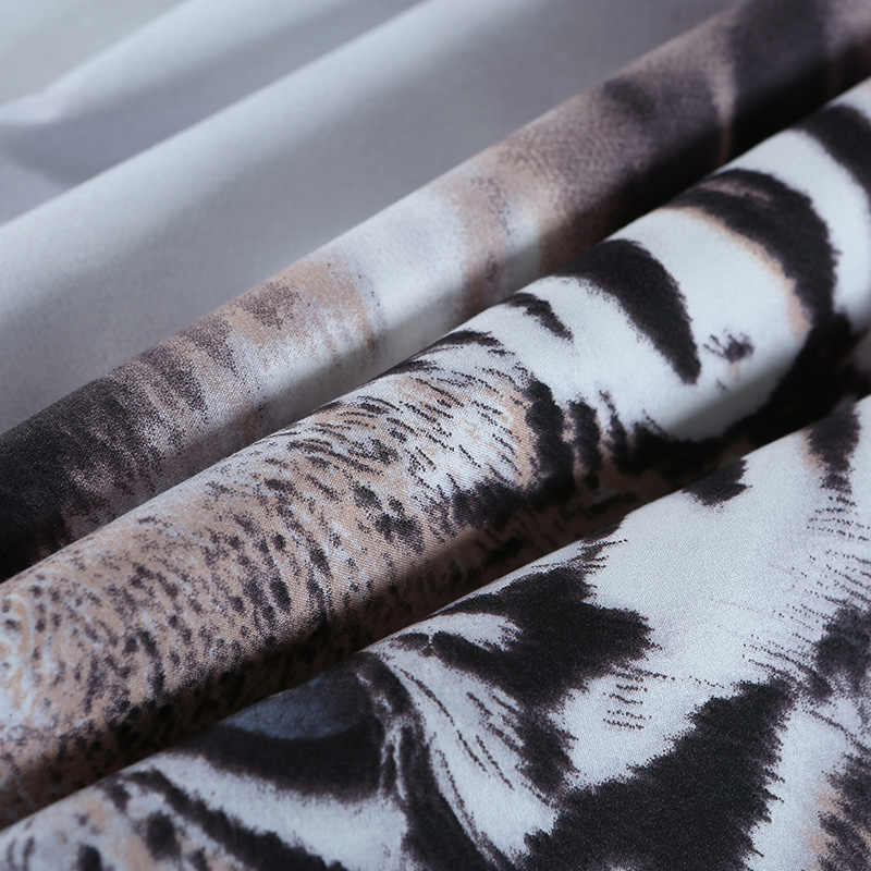 3D Tiger Animal Bedding Sets Duvet Cover King/Queen Size Tiger White Cotton Blend Bed Cover Lion  Bedclothes Pillowcase