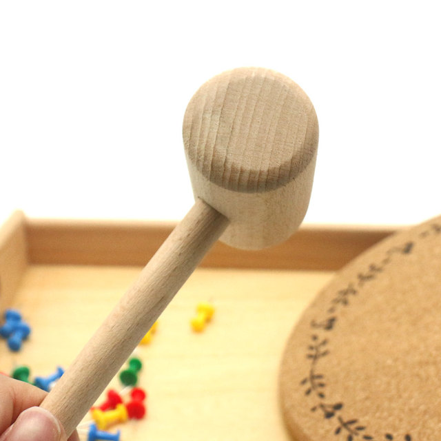 Wooden Hammer and Pins Set