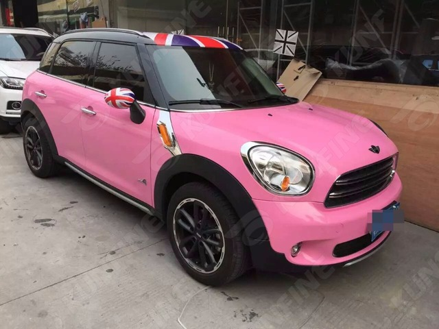 auto styling wrap glossy roze auto vinyl film lichaam sticker auto