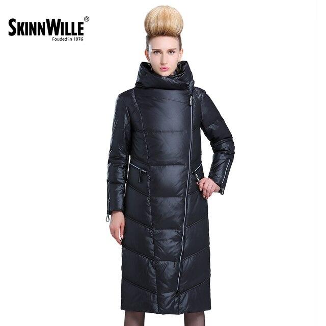 SKINNWILLE 2017 пуховика длинная зимняя куртка жеская женский пуховик  пальто зимние куртки женские Зимние Пальто И 60730cd0711
