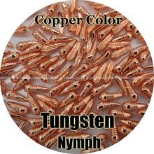 Bakır renk/100 Tungsten Nymph vücut, Fly bağlama, balıkçılık