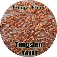 Cor de cobre/100 tungstênio nymph corpo, voar amarrando, pesca