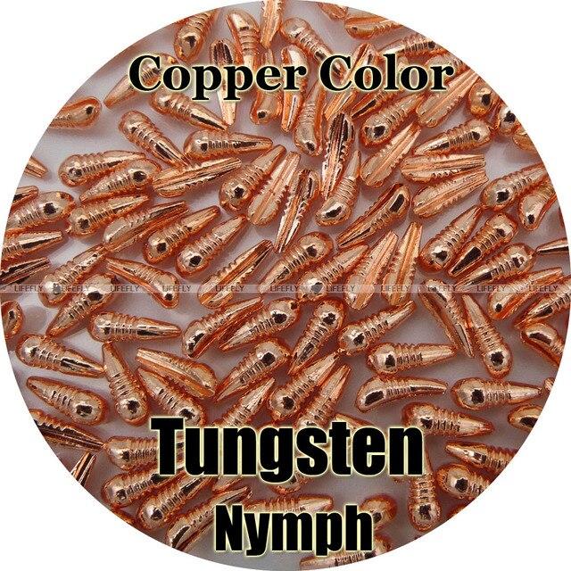 Corps de nymphe en tungstène 100, couleur cuivre, liage à la mouche, pêche