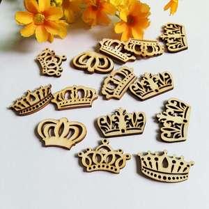 40PCS Crown series Shaped Wood