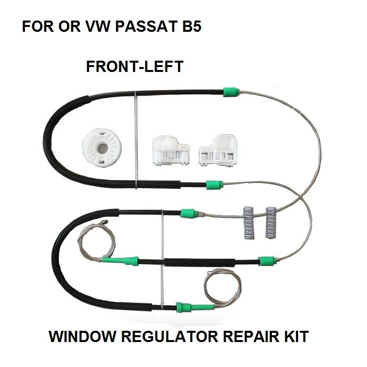 WINDOW REGULATOR CLIP COMPLET SET KIT FOR VW PASSAT B5 ELECTRIC WINDOW REGULATOR REPAIR KIT FRONT-LEFT SIDE 96-05