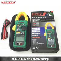 MASTECH MS2115A Digital DC AC Clamp Meter Voltage Current Resistance Capacitance Tester True RMS
