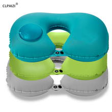 CLPAIZI Outdoor Travel Pillow Inflatable Neck U-Shape for Traveling and Airplane Support Head, D30