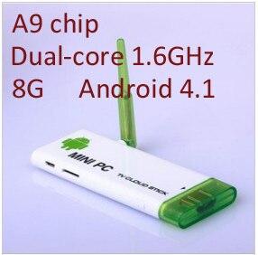 Смарт ip tv xbmc двухъядерный RK3066 Android 4,1 Мини компьютер мини ПК ТВ приставка превосходный корень сигнала с микрофоном