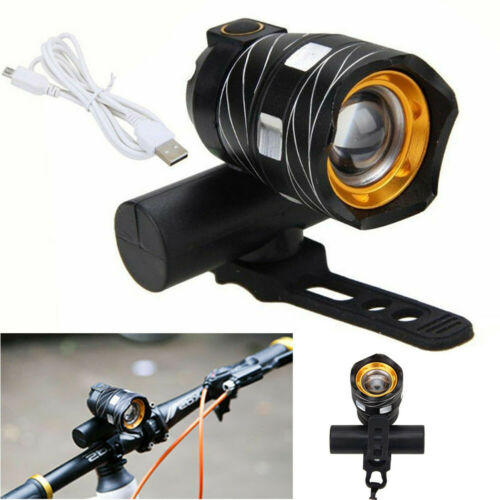 1x USB Rechargeable XML T6 LED Bicycle Bike Front Lamp Cycling Head Light Torch