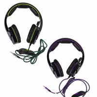 SADES SA-930 PS4 headset Stereo Sound Gaming Headphones with microphone for computer Mobile phones 3.5mm jack Purple/Green Gift