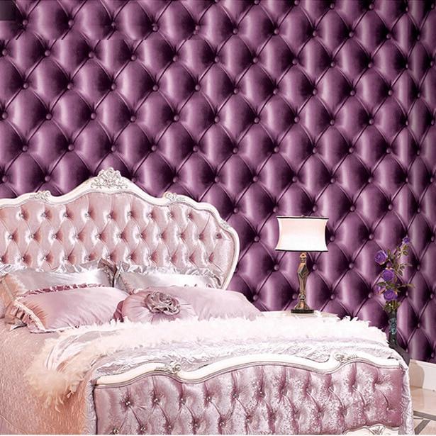 Lila Tapete Schlafzimmer - Design