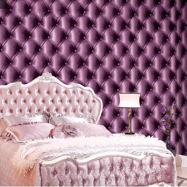 Super 3d Leder Pvc Wasserdicht Lila Tapete Für Schlafzimmer Wand Dekorative  Tapeten