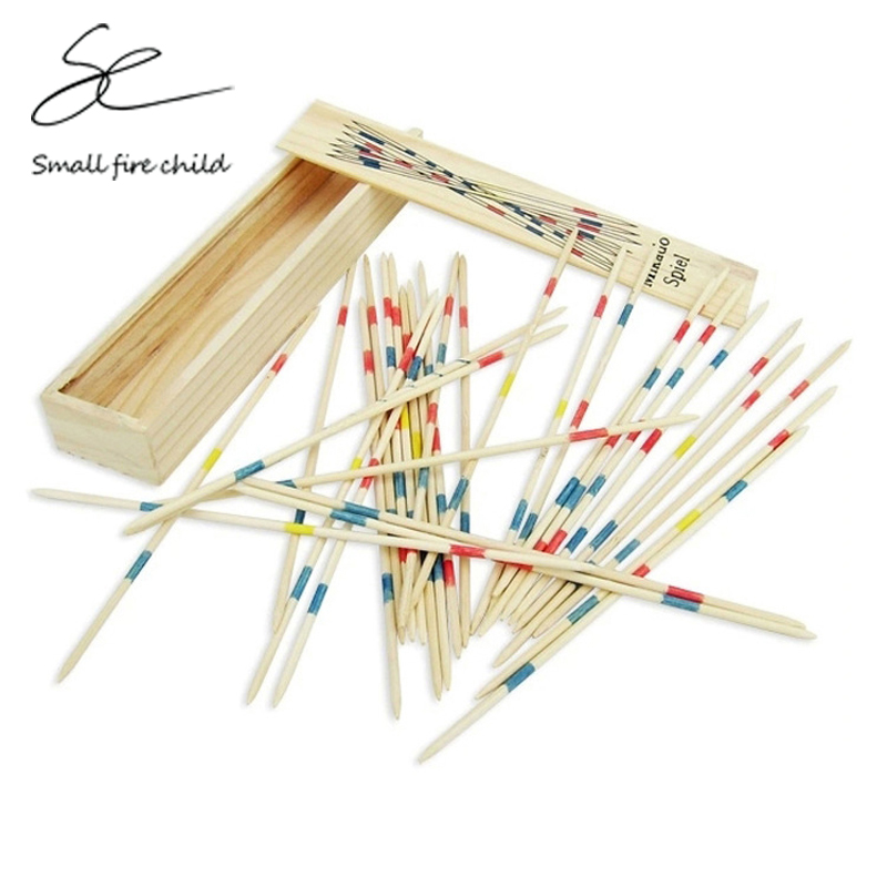 Wooden Toys Pick Up Sticks Puzzle Game Multiplayer Board Stick Kids Educational Interactive Development Toy For Children image