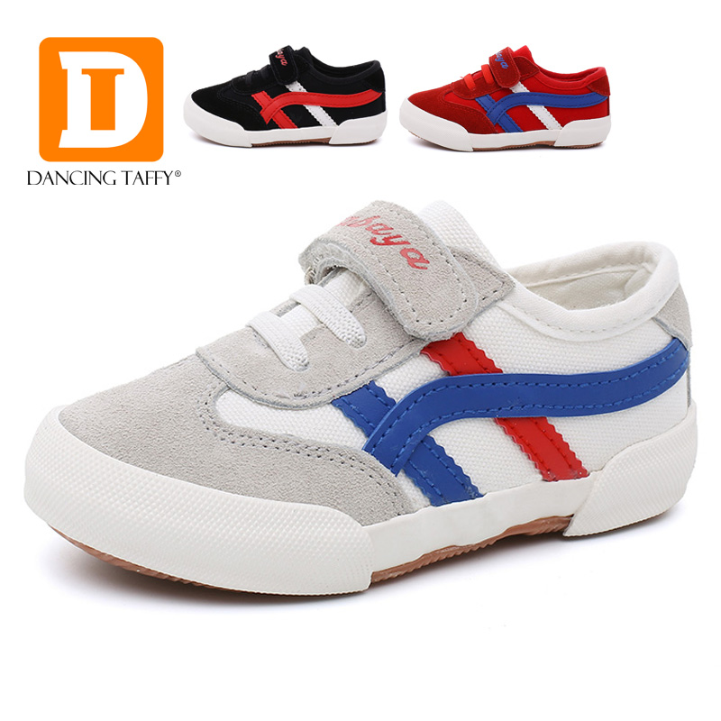 2017 Fashion Genuine Leather & Canvas Patchwork Children Shoes Cow Muscle Casual Kids Shoes School Sports Girls Boys Sneakers
