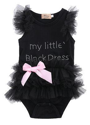 Newborn Kids Baby Girl Infant Romper Jumpsuit Bodysuit Clothes Tutu Dress Outfit