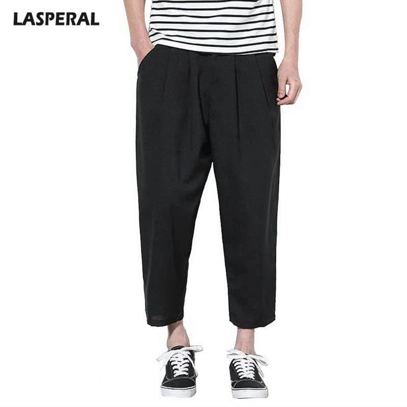LASPERAL 2018 Solid Linen Trousers Male Loose Pants For Men Plus Size Fitness Jogger Pants 2018 Mens Sweat Pants Dropshipping